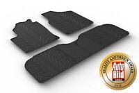 Design Passform Gummimatten Gummi Fußmatten mit Rand für VW Sharan Bj. 1996-2010