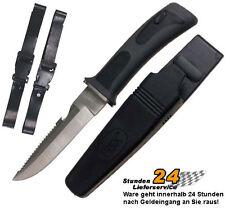 FOX Tauchermesser Rettungsmesser Taucher Messer mit Holster schwarz-grau