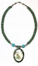 Mixed Metals Turquoise Costume Necklaces & Pendants