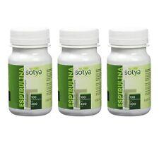 3 x ESPIRULINA Sotya 400mg. 100c. Aporta nutrientes Anemia  ENVIO RÁPIDO