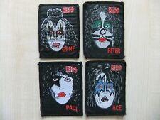 Kiss Band Aufnäher Patches 4er-Set Alice Cooper King Diamond Mötley Crüe 80´s