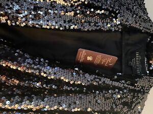 donna salyer sequin black silver jacket size xl long sleeve polyester liningtvsn