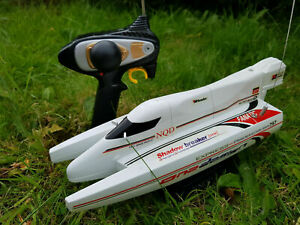 Catamaran Rechargeable Radio Remote Control Rc Boat Racing High Speed 12KM/HR