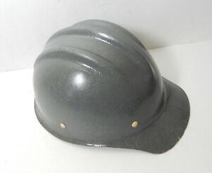 VINTAGE GREY FIBERGLASS HARD BOILED BULLARD 502 Hard Hat IRONWORKER