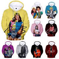 Cardi B Hip Hop Top Music Hoodie Sweatshirt Pullover Belcalis Almanzar 9 Size