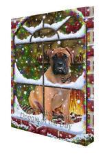 Please Come Home For Christmas Bullmastiff Dog Canvas Wall Art