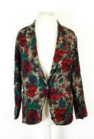 Vintage Jacques Vert Ladies Wool Blend Floral Jacket UK 12  R