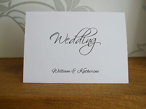 Personalised Wedding / Evening Reception Invitations