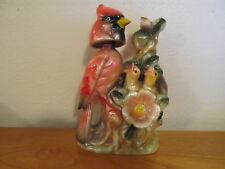 Vintage Cardinal with chicks Porcelain Bobblehead Nodder 1960's