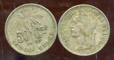 CONGO   BELGE   50 centimes 1927  (  belges )