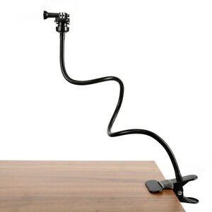"25"" Gooseneck Stand Holder Mount Flexible Clamp For Gopro Camera Logitech Webcam"