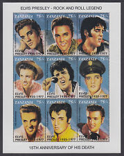 Tanzania Sc 808-811 MNH. 1992 Entertainers, 4 Sheets of 9 different, VF