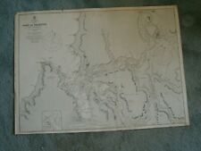 Vintage Admiralty Chart 1318 CHILE - PORT OF VALDIVIA 1882 edn