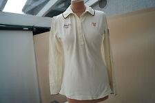 Huberman's langarm Polo Shirt Bluse Poloshirt stretch Gr.M creme TOP