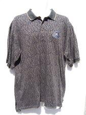 Izod Club Men's Blue & Green Leaves Golf Polo Shirt 1997 US Open Congressional L