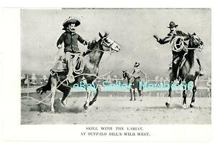 Sideshow/Circus -COWBOYS LARIAT SKILL-BUFFALO BILL'S WILD WEST SHOW- Postcard