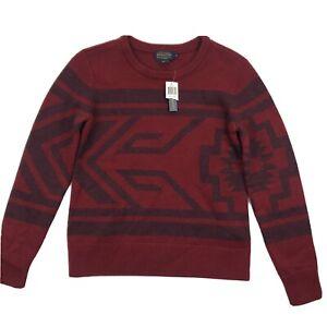 Pendleton Mens Merino Wool Crew Neck Pullover Sweater Southwestern Sz S NWT