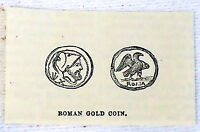 small 1882 magazine engraving ~ ROMAN GOLD COIN