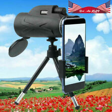 80X100 Zoom Hd Lens Prism Hiking Monocular Telescope&Phone Clip&Tripod Outdoor n