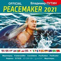 """2021 VLADIMIR PUTIN """"OFFICIAL PEACEMAKER 2021""""  RUSSIAN WALL CALENDAR ORIGINAL"""
