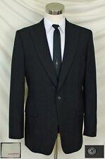 (42L) Elegant Black & Red Pinstripe Jacket wth Peaked Lapel  By: Banana Republic