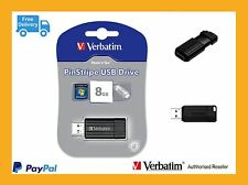 ($0 p&h) Bulk Buy 10 x Verbatim USB Flash Drive 8GB Store-n-go pinstripe # 49062