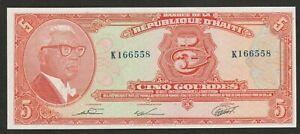 1979 HAITI 5 GOURDE NOTE UNC