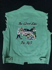 Looney Tunes Acme Denim Jean Vest Sleeveless Trucker Jacket Small