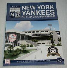 2017 New York Yankees Spring Training Program