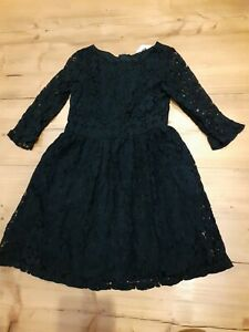 Girls H&M Black Party Dress Age 8-9 Years