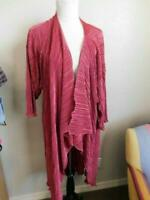 Lularoe Size L Large Shirley Crinkle Long Jacket Kimono Style NWT
