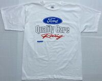 Vintage USA 90s Alore Ford Quality Care Racing Graphic T Shirt Mens XL / Large