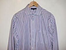 Machine Washable Striped Men's 40 in. Chest Formal Shirts