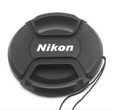 62mm Size Snap-on Central Pinch Front Lens Cap Cover For Nikon Lens with String