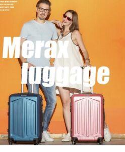 Merax Lightweight Luggage Hard Shell 4 Wheels Suitcase Holdall Cabin Case Darkbl
