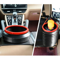 1 Gal Car Plastic Folding Garbage Trash Can Protable Dust Bin Bucket w/ Handle