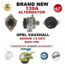 Per Opel Vauxhall Signum 1.9 CDTI 2004 - > NUOVO 139A Alternatore Con Puleggia Frizione