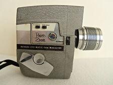 REVERE MOVIE CAMERA Power Zoom 8mm Eye-Matic Magazine Model 119 WIDE ANGLE