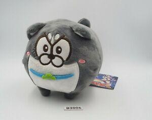"Osomatsu san B3006B Karamatsu Black Dog Furyu Plush 6"" TAG Toy Doll Japan"
