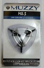 "Muzzy MX-3 3-Blade Broadhead, 100 Grain 1 1/4"" CUT"