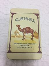 CAMEL Turkish & Domestic Blend Cigarettes Tin with Hinged Lid 5.5 X 3.5 X 2