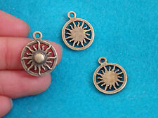 10 Sun Charms Pendentifs Bronze Antique Bijoux Making Wholesale UK WV30