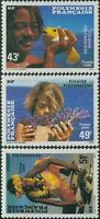 French Polynesia 1986 Sc#430-432,SG473-475 Polynesian Faces set MNH