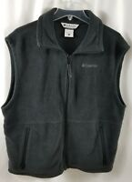 COLUMBIA Gray Fleece Mens Vest Size LARGE Zippered with Zip Pockets