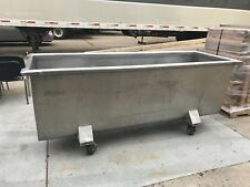Used Stainless Steel Dough Trough On Wheels.