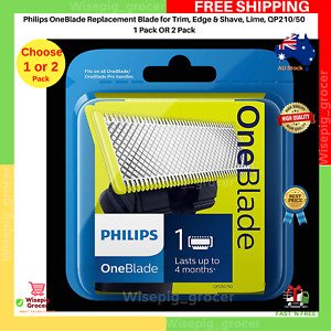BRAND NEW Philips QP220/50 OneBlade Replacement Blades Beard Shaving Head AU STK