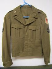 Original WWII 1st / 99th Division Ike Jacket / Bullion & Theater Made Insignia