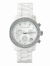 Orologio donna MICHAEL KORS RUNWAY MK5188 crono ceramica bianco box&garanzia
