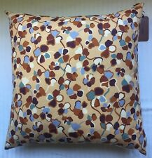 "New MISSONI HOME 24x24"" Decorative PILLOW Blue/Brown"