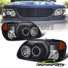 [Dual CCFL Halo] 1995-2001 Ford Explorer Black CCFL Halo Projector Headlights